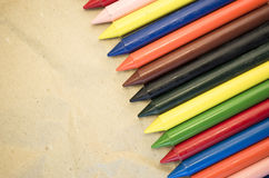 set of colored wax crayons Stock Image