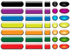 Set of colored web buttons.  Stock Images