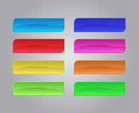 Set of colored web buttons Royalty Free Stock Image