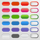 Set of colored web buttons. Colorful collection    for your website and  design. Royalty Free Stock Photography