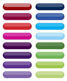 Set of colored web buttons Stock Images