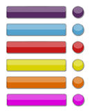 Set of colored web buttons. The web buttons are design for website and others Royalty Free Stock Photos