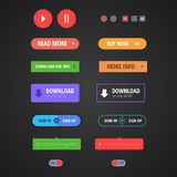 Set of colored web buttons Royalty Free Stock Photos