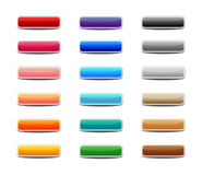 Set of colored web buttons Stock Photos