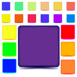 Set of colored web buttons stock illustration