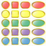 Set of colored web buttons. Vector illustration Stock Photo