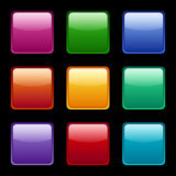 Set of colored web icons. Stock Photo