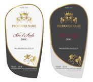 Set of colored Wine Label Royalty Free Stock Image