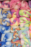 A set of colored yarn. A set of skeins of colored yarn Royalty Free Stock Image