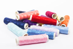 Set colored yarn with style thread. In a isolated Royalty Free Stock Photos