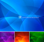 Colorful Abstract Background part 2 - 1. A set of colorful abstract background. Each background separately on different layers. Available in 4 different colors Stock Images
