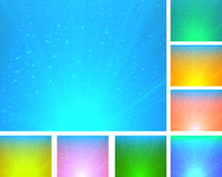 A set of colorful abstract backgrounds Stock Images