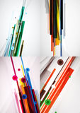 Set of colorful abstract backgrounds Royalty Free Stock Photo