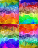A set of polygonal backgrounds Royalty Free Stock Images
