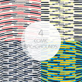 Set of colorful abstract backgrounds with rectangles. Modern concept for comic book Stock Photo