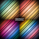 Set of colorful abstract backgrounds. Vector illustration Stock Images