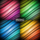 Set of colorful abstract backgrounds. Royalty Free Stock Photos