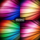 Set of colorful abstract backgrounds. Stock Photo