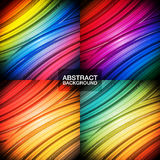 Set of colorful abstract backgrounds. Stock Photography
