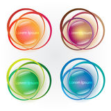 Set of colorful abstract banners Stock Image