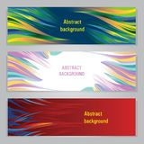 Set of colorful abstract banners royalty free illustration