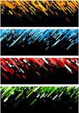 Colorful abstract banners set on black. Set of colorful abstract banners on black. Vector paper illustration Royalty Free Stock Image
