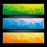 Set of colorful abstract banners. Stock Images