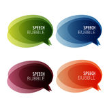 Set of colorful abstract banners speech bubbles. Graphic banners design with overlay colors Royalty Free Stock Photography