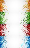 Colorful abstract banners set on white. Set of colorful abstract banners on white. Vector paper illustration Royalty Free Stock Images