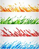 Colorful abstract banners set on white. Set of colorful abstract banners on white. Vector paper illustration Stock Photography