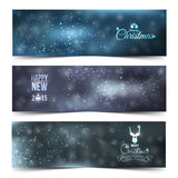 Set of colorful abstract Christmas, New Year banners Stock Photo