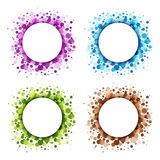 Set of Colorful Abstract Circles. Stock Photography
