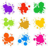Set of Colorful Abstract Drops Stock Photo
