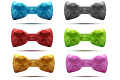Set of colorful abstract fashion bow tie in Stock Photos