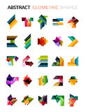 Set of colorful abstract geometric shapes. Isolated on white. For business designs, symbols, banners Royalty Free Stock Photo