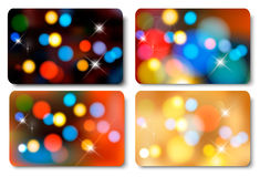 Set of colorful abstract gift cards. Royalty Free Stock Photos