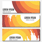 Set of colorful abstract header banners with curved lines and place for text. Royalty Free Stock Photography