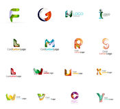 Set of colorful abstract letter corporate logos Stock Photography