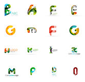 Set of colorful abstract letter corporate logos royalty free illustration