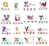 Set of colorful abstract letter corporate logos Royalty Free Stock Photography