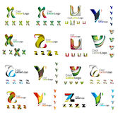 Set of colorful abstract letter corporate logos Royalty Free Stock Images