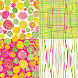 Set of  colorful abstract seamless backgroun Royalty Free Stock Photography