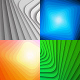 Set of colorful abstract shiny backgrounds Royalty Free Stock Image