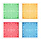 Set of colorful abstract square banners. Flat style. Template for design and paste text. Graphic banners design Stock Image