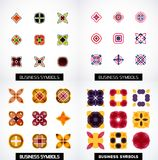 Set of colorful abstract symmetric geometric icons Royalty Free Stock Photography