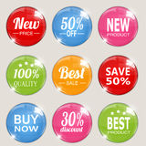 Set of colorful advertising stickers. Vector Royalty Free Stock Photos