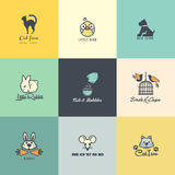 Set of colorful animal icons Stock Photography