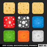Set Of Colorful App Icon Frames Royalty Free Stock Image