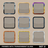 Set Of Colorful App Icon Frames Royalty Free Stock Images
