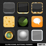 Set Of Colorful App Icon Frames Stock Images